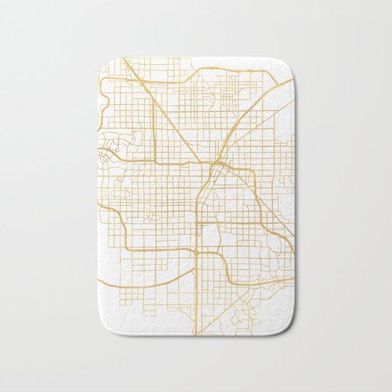 LAS VEGAS NEVADA CITY STREET MAP ART Bath Mat