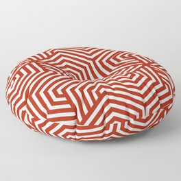 Rufous - red - Minimal Vector Seamless Pattern Floor Pillow