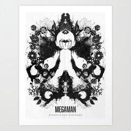 Megaman Geek Ink Blot Test Art Print