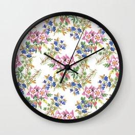 Painting lili flowers pattern Wall Clock