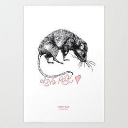love rat Art Print