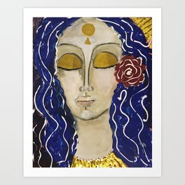 Lady of Grace and Contemplation Art Print