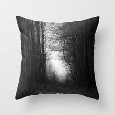 In the deep dark forest... Throw Pillow