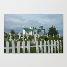 Russian Church in Alaska Canvas Print