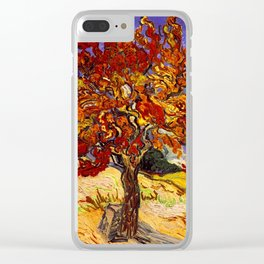 Vincent Van Gogh Mulberry Tree Clear iPhone Case