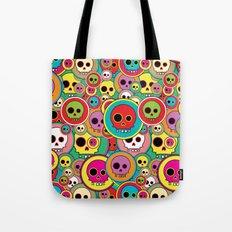 Button Skulls Tote Bag