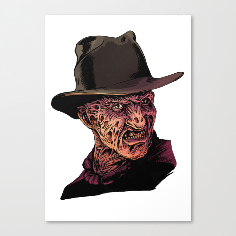Nightmare On Elmo Street Canvas Print by Rubenlopezart CNV8633666