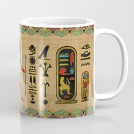 Egyptian Re-Horakhty  - Ra-Horakht  Ornament on papyrus Coffee Mug