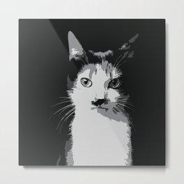 A Feline Mastermind Metal Print