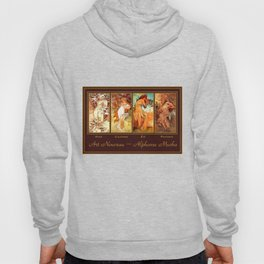 Art Nouveau Mucha Four Seasons Hoody