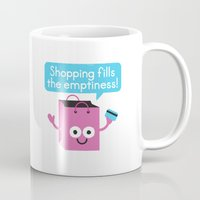 sagan Mugs featuring Retail Therapy by David Olenick