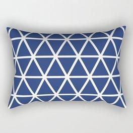 Navy Triangle Pattern 3 Rectangular Pillow