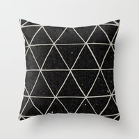 solid Throw Pillows featuring Geodesic by Terry Fan