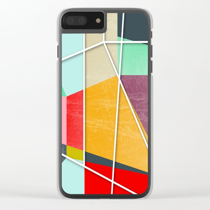 ColorBlock V Clear iPhone Case