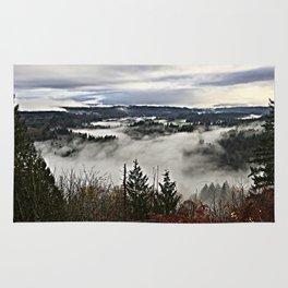 Valley Fog in Sandy Oregon Rug