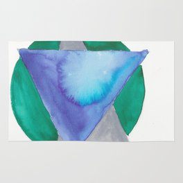 180818 Geometrical Watercolour 3 | Colorful Abstract | Modern Watercolor Art Rug