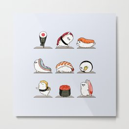 Sushi Yoga Metal Print