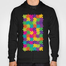 Colorful Jigsaw Puzzle Pattern Hoody