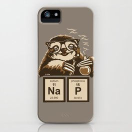 Chemistry sloth discovered nap iPhone Case