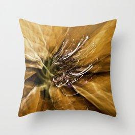 Abstract Autumn Gold Throw Pillow