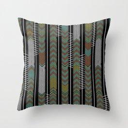 ethnic rain Throw Pillow