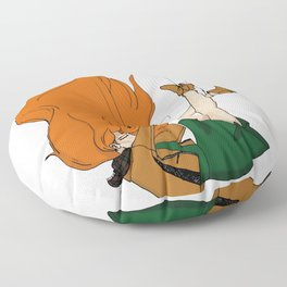 Puppet to society Floor Pillow