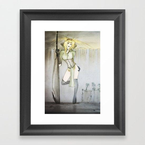 permanently moist Framed Art Print