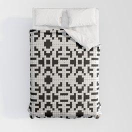 65 MCMLXV Crossword Puzzle Print Comforters