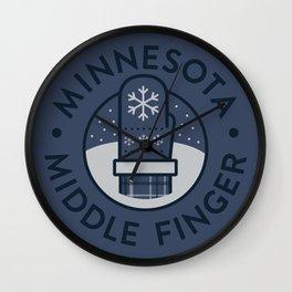 Minnesota Middle Finger Wall Clock