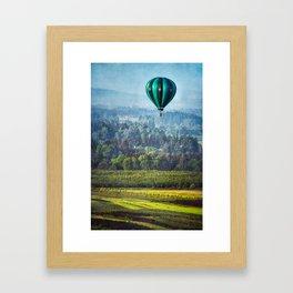 Floating Over Fields Framed Art Print
