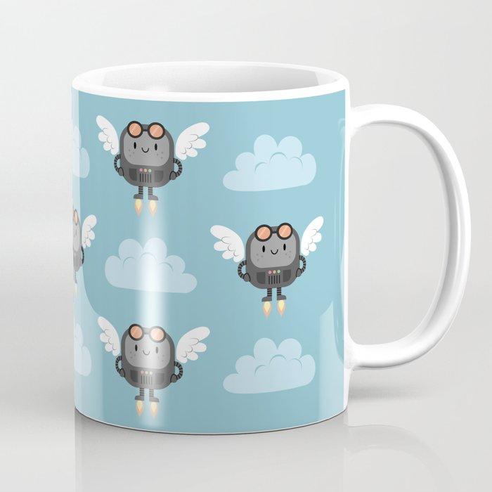 Cute flying robots Coffee Mug