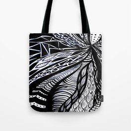 Gaia's Garden in Black & White 3 Tote Bag