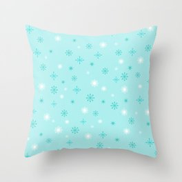 AFE Turquoise Snowflakes Throw Pillow
