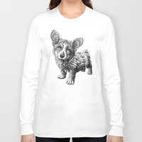 corgi Long Sleeve T-shirts featuring Corgi Puppy by BIOWORKZ