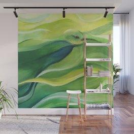 Humming Bird/Acrylic Bird Paint/ Green and Yellow Wall Mural