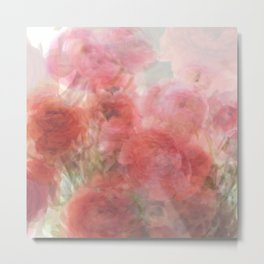 Watercolor Ranunculus Metal Print