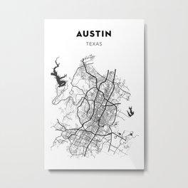 AUSTIN MAP PRINT Metal Print