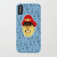 street fighter iPhone & iPod Cases featuring Bison - Street Fighter by Kuki