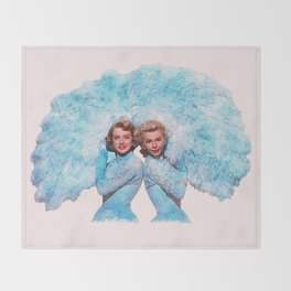 Sisters - White Christmas - Watercolor Throw Blanket
