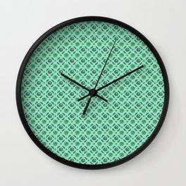 Green Brassicas Wall Clock