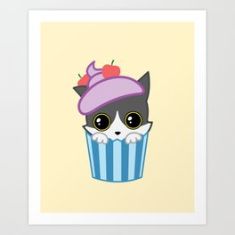 cupcake kitty Art Print