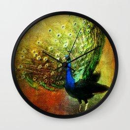 Peacock in Full Color Wall Clock