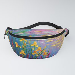 Flowers by the pond Fanny Pack
