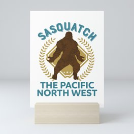 Sasquatch The Pacific North West PNW Bigfoot product Mini Art Print