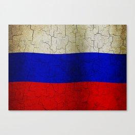 Grunge Russia flag Canvas Print