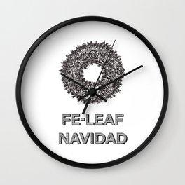 Feleaf Navidad Wall Clock