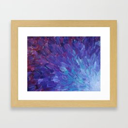 SCALES OF A DIFFERENT COLOR - Abstract Acrylic Painting Eggplant Sea Scales Ocean Waves Colorful Framed Art Print