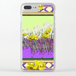 PANTENE ULTRA VIOLET PURPLE DAFFODIL GARDEN DECORATIVE ART Clear iPhone Case