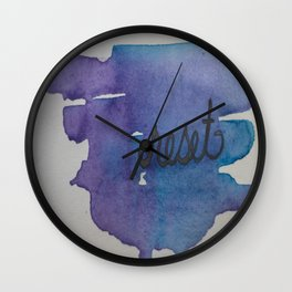 reset watercolor print Wall Clock