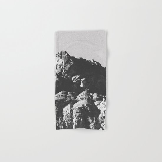 Black & White Mountains Hand & Bath Towel